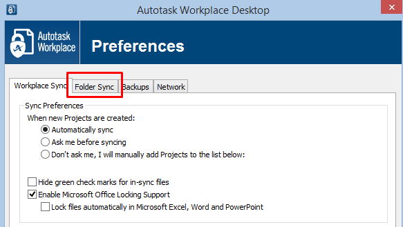 Autotask Workplace - Syncing projects to or from alternative