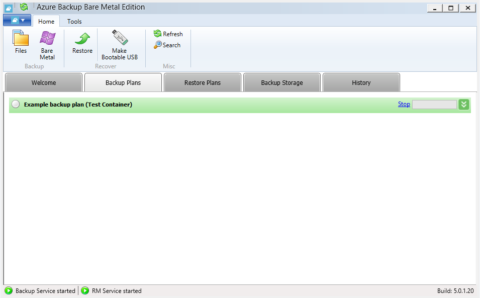 Backing up files and folders to Microsoft Azure