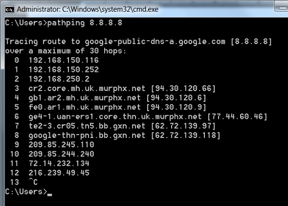 Using Traceroute, Ping, MTR, and PathPing