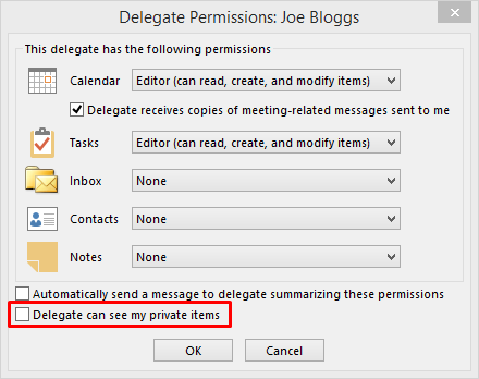 Delegating someone else to manage your mail and calendar