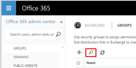 Creating and modifying a distribution group in Office 365