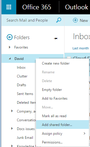 Opening And Using A Shared Mailbox In Outlook On The Web