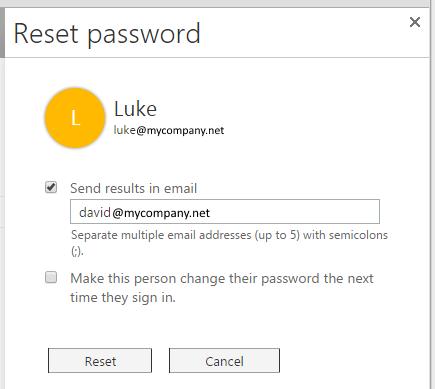 office password reset