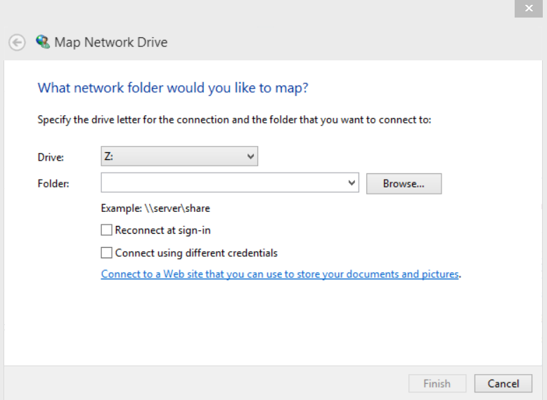 Mapping a SharePoint site as a network drive