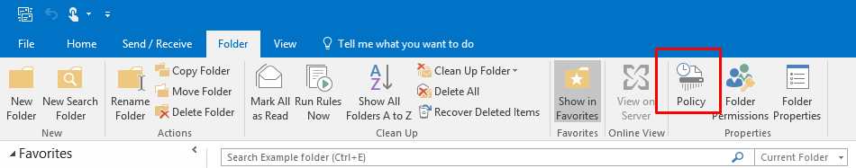 Using Office 365 online archiving and retention policies